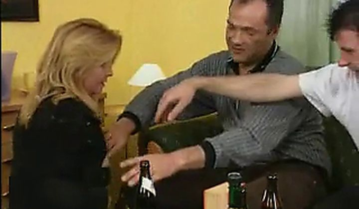Group Sex - Dirty German Slut In A Gangbang